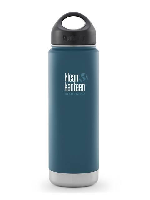 Klean Kanteen Wide Insulated - Recipientes para bebidas - de acero inoxidable, con tapón anillado, 592 ml azul